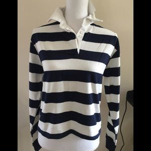 Brandy Melville navy/white striped jonny Top